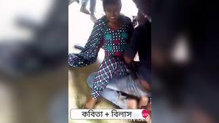बांग्ला किशोर घर के बाहर समूह सेक्स सिनेमा