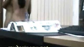 तमिल, कार्यालय लड़की में उसके केबिन एमएमएस